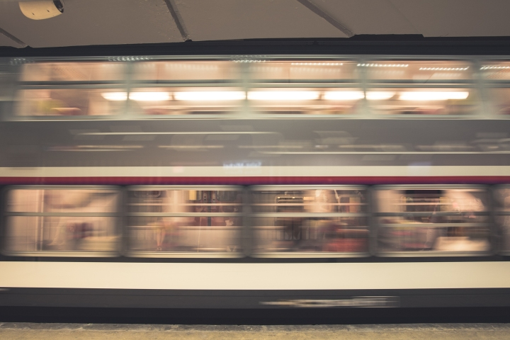 Paris RER blur